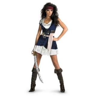 Pirates Of The Caribbean   Jack Sparrow Sassy Adult Costume   Includes