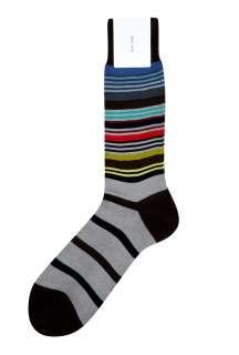 Paul Smith Accessories  Light Grey Ankle Stripe Socks by Paul Smith