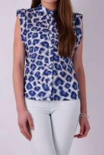 Petra Blue Leopard Tie Shirt by Paul & Joe Sister   Multicoloured