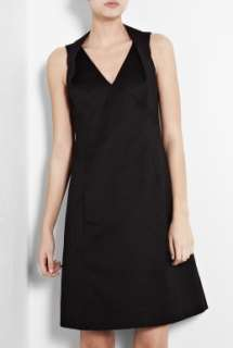 Moschino Cheap & Chic  Black Cotton Pique Dress by Moschino Cheap