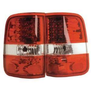 Ford F150 Led Tail Lights Red Clear LED Taillights 2004 2005 2006 2007