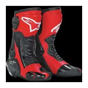 Alpinestars S MX Plus Racing Boot , Color Black/Red