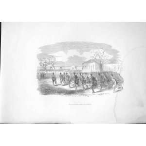 Rifle Volunteers Train At Portsmouth Antique Print