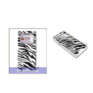 Apple iPod Nano Silicon Skin Case with Screen Protector   Zebra Lines