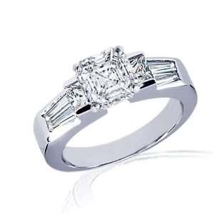 2.65 Ct Asscher Cut Diamond Engagement Ring Bezel Set CUT