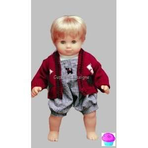BOY Romper Set   fits American Girl 15 Bitty Baby & Bitty Twin Doll