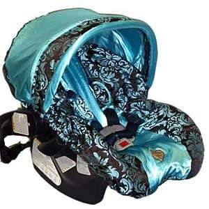 Blue Champagne W/trim Infant Car Seat Cover Baby