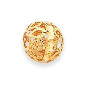 14k Gold Diamond cut Gold Ball Chain Slide Jewelry