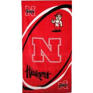 Nebraska Cornhuskers NCAA Beach/Bath 30X60 Towel  Sports