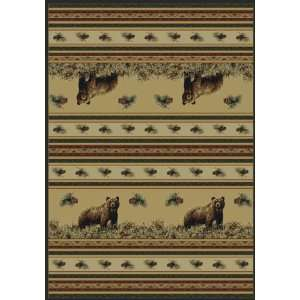Marshfield Pine Creek Bear & Pine Cone Lodge Area Rug Home & Kitchen