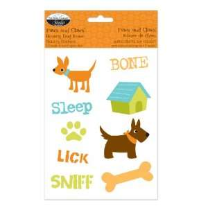 Paws & Claws Bouncy Stickers Dog Icons