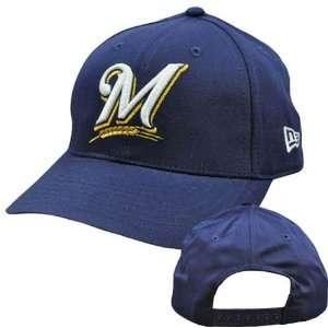 MLB Milwaukee Brewers Vintage Old School New Era Navy Blue
