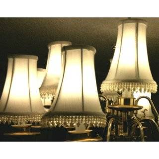 BELL, SHAPED, CHANDELIER, or, CANDLE LIGHTS, CREAM, MINI, LAMP SHADE