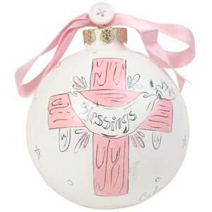 Blessings   Girl Cute as a Button Ornament: Baby