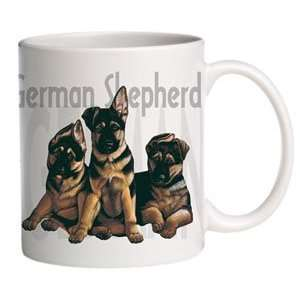 German Shepherd Puppies Ceramic Coffee Mug   15 oz