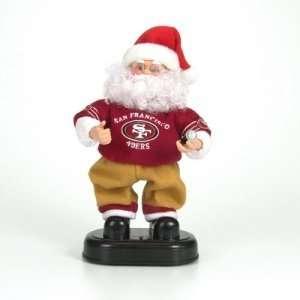 San Francisco 49ers NFL Animated Rock & Roll Dancing Santa (12