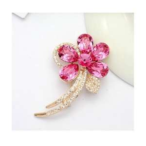 Austrian Swarovski Crystal Fashion Lady Pin Brooch  Beautiful and The