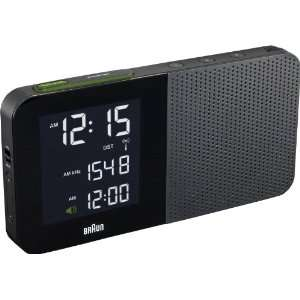 Braun BNC010BK RC Digital Alarm Clock Radio Black  Kitchen
