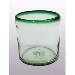 Emerald Green Rim DOF   rock glasses (set of 6)