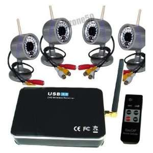 Home Security DVR System Remote TV/PC Surveillance Kit Camera & Photo