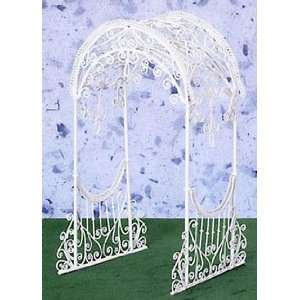 Dollhouse Miniature White Wire Trellis