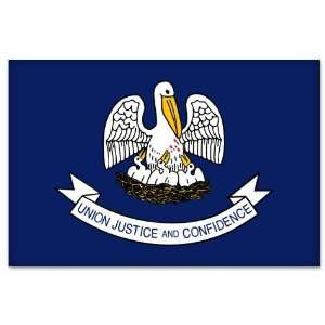 Louisiana State Flag car bumper sticker 5 x 4