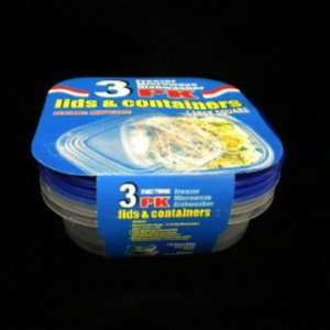 3Pc 25Oz Food Storage Containers Set Case Pack 48 Home