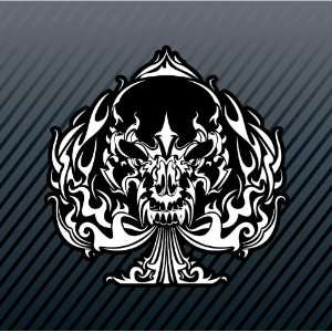 Ace of Spades Spadille Skull Car Trucks Sticker Decal