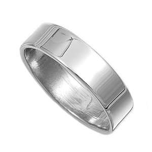 Sterling Silver Plain Cigar Band Ring   5mm size12 Jewelry