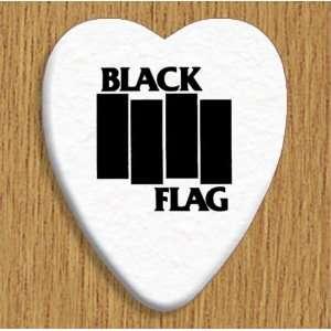 Black Flag 5 X Bass Guitar Picks Both Sides Printed