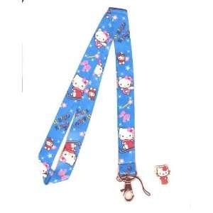 Hello Kitty Blue Angel Lanyard Key Chain Holder