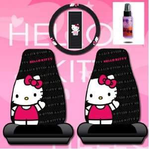 New Design 4 Pieces Hello Kitty Car Seat Cover with Steering Wheel