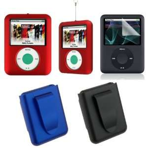 3Rd Generation Apple iPod Nano Rubberize Texture Snap On Crystal Case