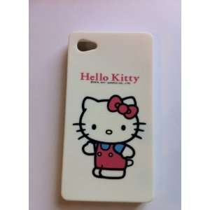 Hello kitty Iphone 4G 4S silicone case   white Cell Phones