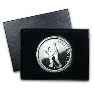 1 oz Hockey Silver Round (w/Gift Box & Capsule