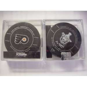 2012 NHL Stanley Cups Playoffs   Philadelphia Flyers Playoff Game Puck
