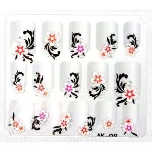 YiMei Hot selling nail art nail decals fashion stereoscopic 3D nail