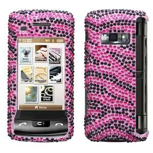 Zebra Skin (Hot Pink/Black) Diamante Protector Cover for