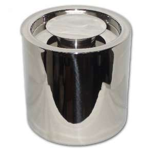 Polished Stainless Steel Insulated 2.5 Quart Ice Bucket without Handle