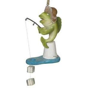 Fish Ice Fishing Christmas Ornament: Sports & Outdoors