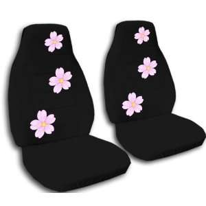 set of seat covers. Black cherry blossom seat covers. Automotive