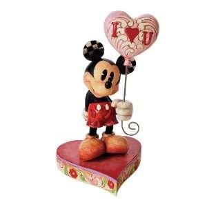 Disney Traditions by Jim Shore Mickey with Heart Balloon Figurine, 8