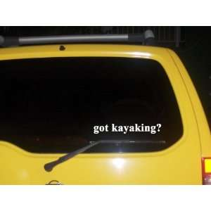 got kayaking? Funny decal sticker Brand New Everything