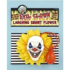 Evil Clown Laughing Squirt Flower: Toys & Games