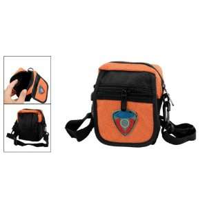 Mini Black Zipper Closure Bag Digital Camera Nylon Holder Electronics
