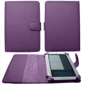 Premium Purple Leather Padfolio Case with Magnetic Closure