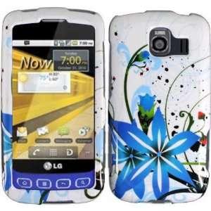 Blue Splash Hard Case Cover for LG Optimus S U V LS670