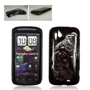 4G BLACK AND WHITE CHEETAH HYBRID CASE Cell Phones & Accessories