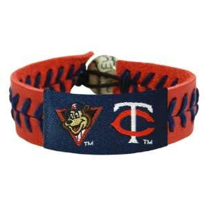MLB Minnesota Twins TC Mascot Team Color Baseball Bracelet