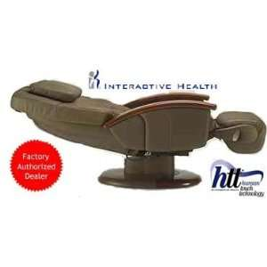 HT 136 Cashew Leather Robotic Massage Chair Recliner